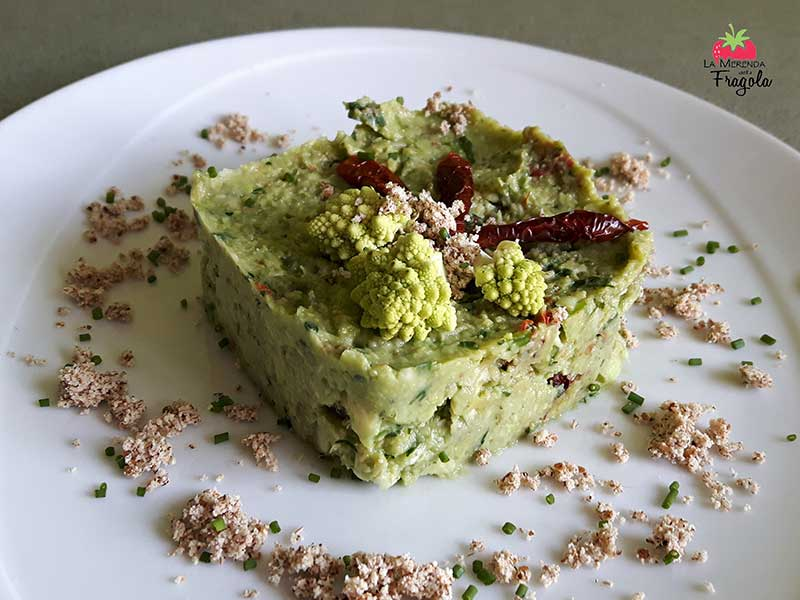 mousse di avocado e cimone romanesco