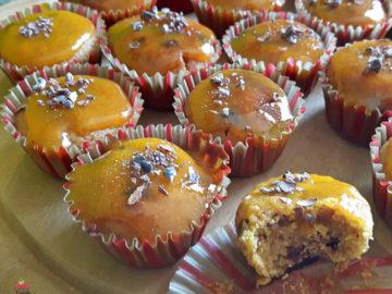 Muffin arancia-cioccolato con farina di Chufa