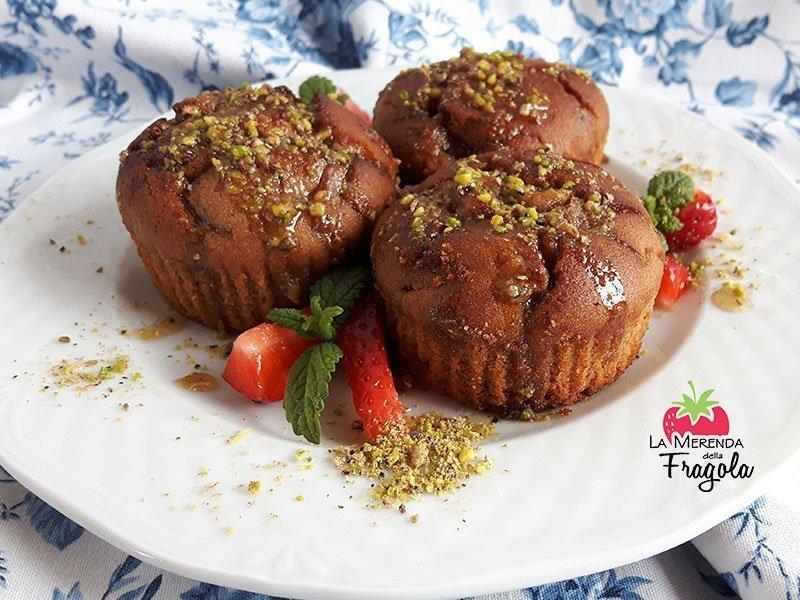 Muffin alla fragola e chufa senza glutine