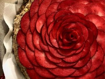 Red Rose RAW Cake